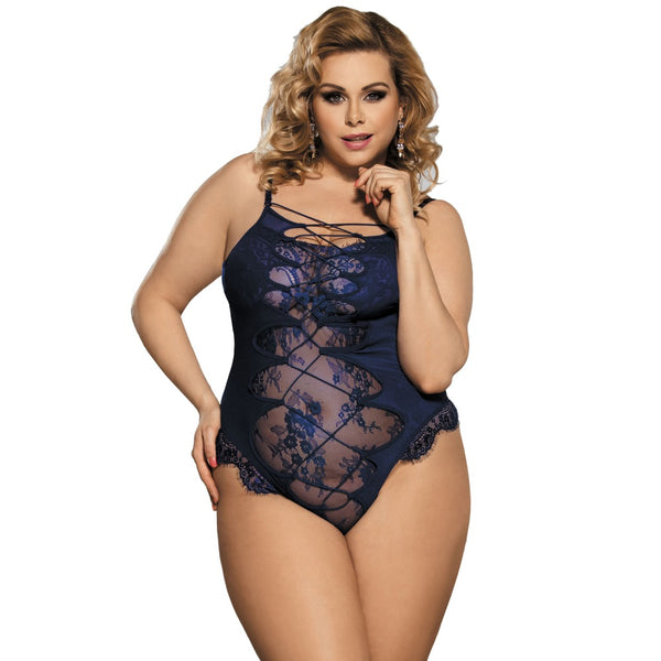 AR80327 Blue Teddy Lingerie Bodysuit Body Lingerie Sexy Hot Erotic High Quality Woman Lace Transparent Sexy Bodysuit