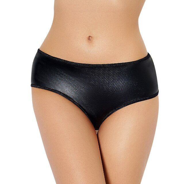 AP5061 Women Sexy Underwear Mid Rise Open Back Sexy Panties Woman Leather Plus Size Panties Women Briefs