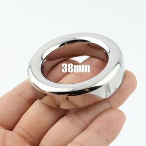 Stainless Steel Cock Ring (diameter 47/44/41/38mm,thickness 9mm)