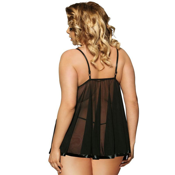 AE2073 Sexy Babydoll Plus Size Women Erotic Transparent Sexy Underwear