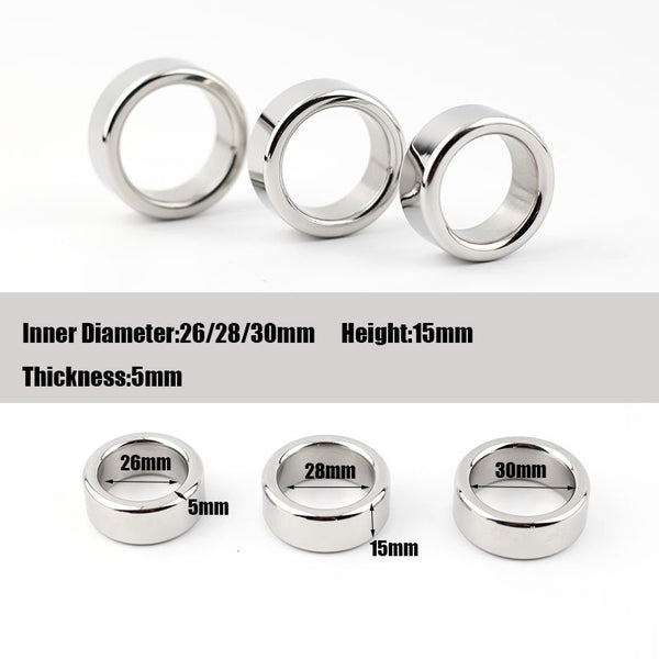Stainless Steel Cock Ring 3 Sizes 26/28/30mm