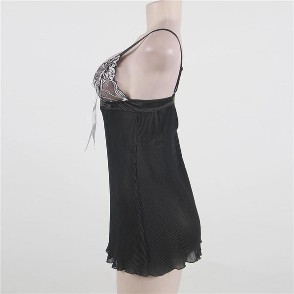 AR80318 Sex Dress Women Sex Floral Plus Size Lingerie Stripe Erotic Dress Sexy Babydoll With G string