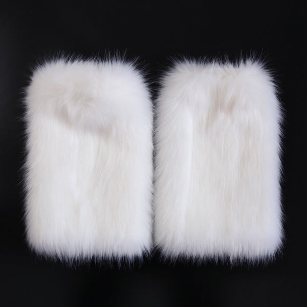 Faux Fur Adult Cosplay Game WHITE FOX Sexy Bondage Set