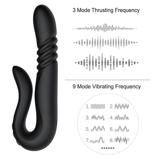 New Automatic 3 Mode Thrusting Dildo 9 Frequency G-spot clitoris Vibrator Rotating Penis Vibrator Sex Toys for Woman