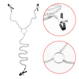 3-Head Nipple Clamps Long Chain Breast Clips BDSM Bondage Restraint Sex Bondage Clips