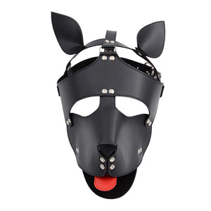 Exotic Sex Products PU Leather Hood Mask Headgear Dog Bondage Slave Fetish
