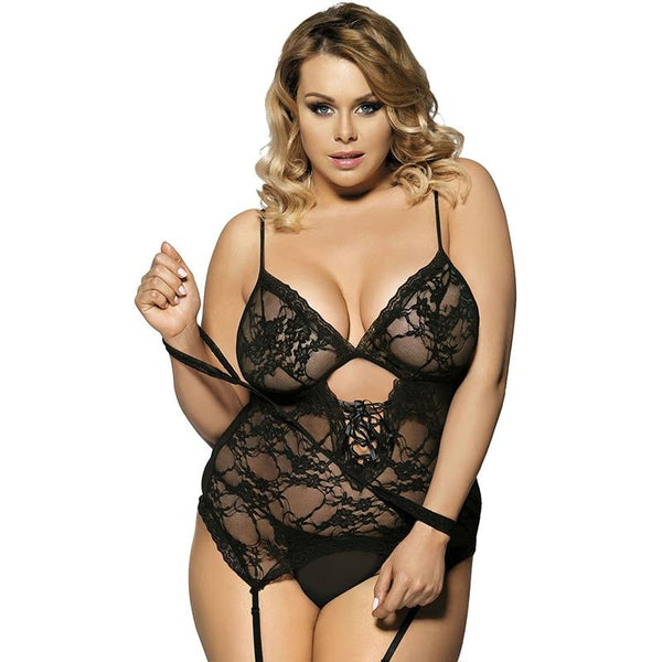 AR7600 G string Hot Sale Teddy with Handcuff  Sexy Lingerie With Garter