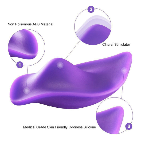 Portable Clitoral Stimulator Invisible Quiet Panty Vibrator Wireless Remote Control Vibrating Egg