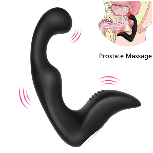 Waterproof Anal Plug Vibrator Prostate Massager Silicone 10 modes Butt Plug Sex Toys for Men