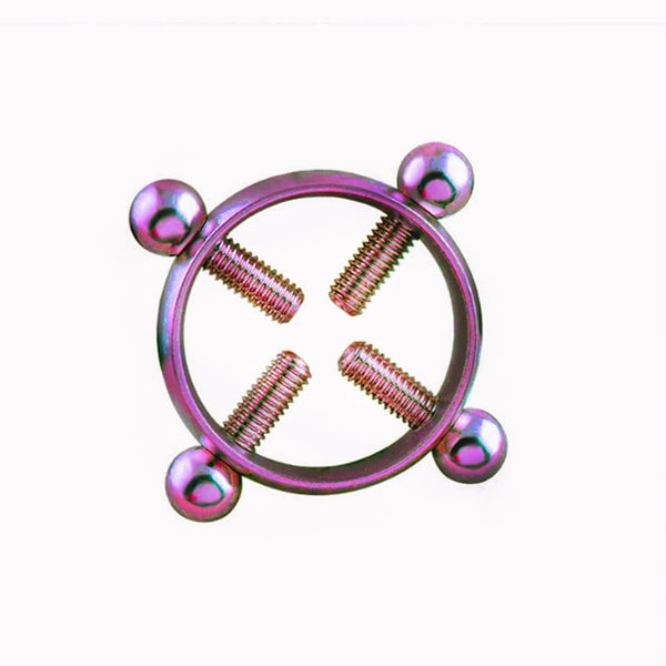 1 Pair Stainless Steel Round Non Piercing Nipple Ring Shield Body Piercing Jewelry Nipple Clamps