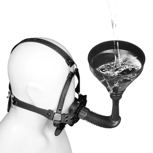 Puppy Play Dog Hood Mask Sex Slave Toilet Funnel Open Mouth Gag BDSM Bondage Restraints Toy Fetish Hood Pet Role Play