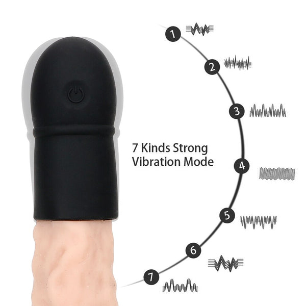 Penis Head Massage Vibrator Lasting Trainer 7 Speed Vibrating Penis Extender Enlargement