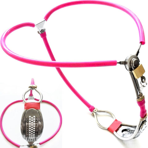 Female Fully Adjustable Y-type Stainless Steel Chastity Belt