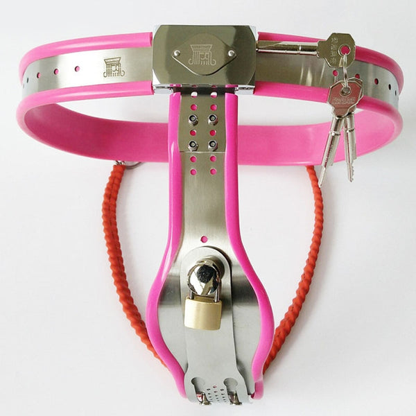 Female Chastity Belt Stainless Steel Chastity Device Adjustable Waist Metal Underwear For Woman