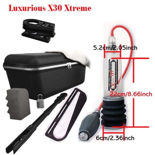 Hydrotherapy X20 X30 X40 Xtreme Penis Pump Penis Enlargement Cock Pro Extender Vacuum Pump For Men Dick Erection Assisting