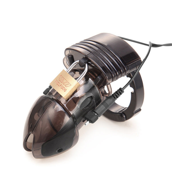 Electric Shock Plastic Chastity Cage
