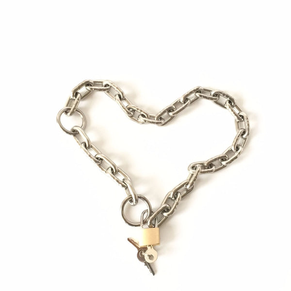 Stainless Steel Free Size Chain Handcuffs