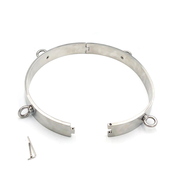 Customize Stainless Steel Waist Belt with 4 Attached Ring BDSM Bondage Gear Device