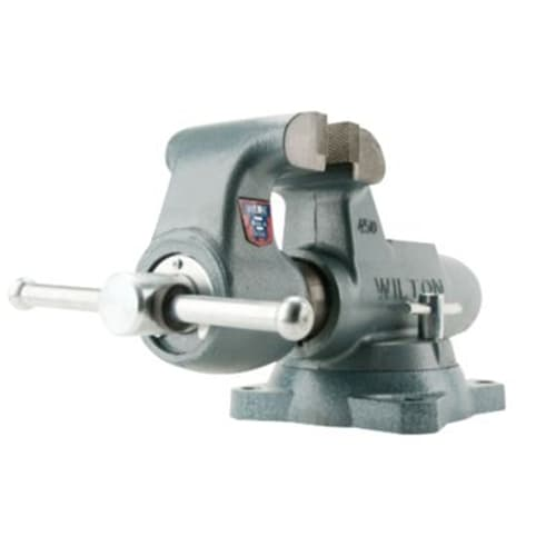 "Wilton 10021 450S, Machinists' Bench Vises - Swivel Base, 4-1/2"" Jaw Width, 7-1/2"" Jaw Opening, 4"" Throat Depth"