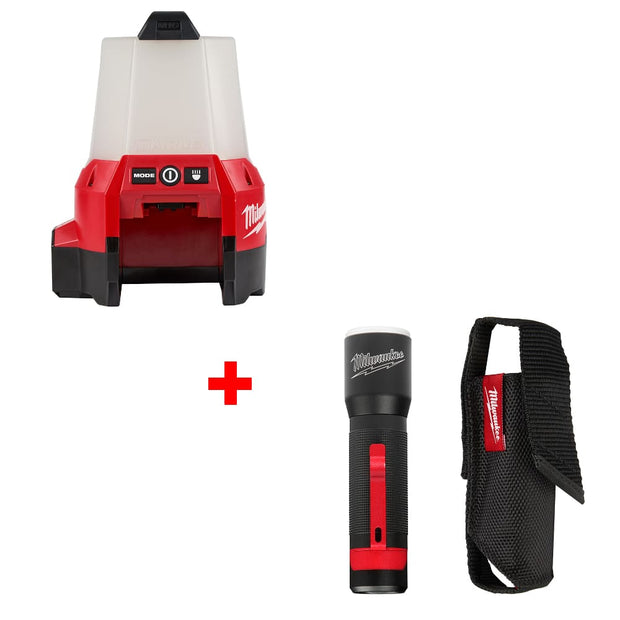 Milwaukee 2144-20 M18 Site Light w/ Flood Mode & FREE 2107S 325L Flashlight