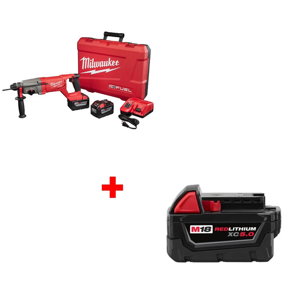 "Milwaukee 2713-22HD M18 1"" Rotary Hammer Kit w/ FREE 48-11-1850 Battery"