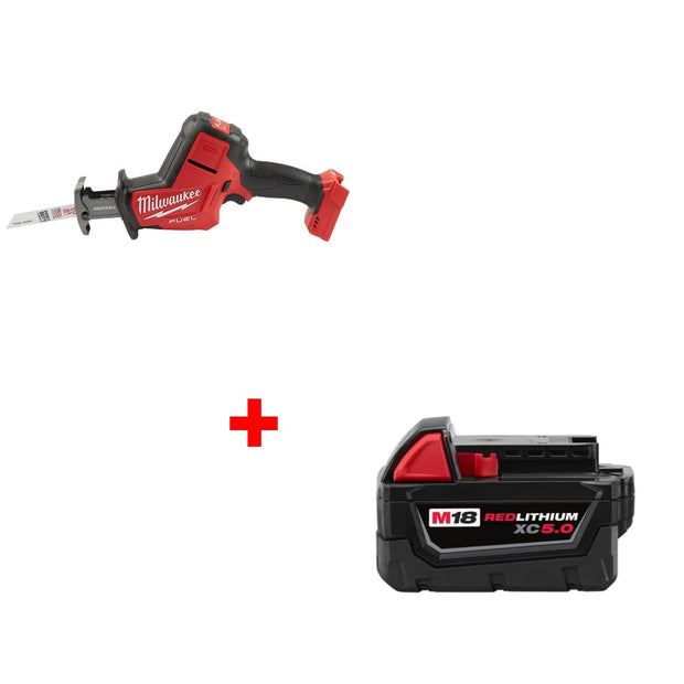Milwaukee 2719-20 M18 FUEL Hackzall Bare Tool w/ FREE 48-11-1850 Battery