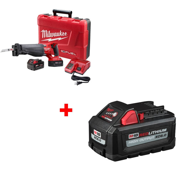 Milwaukee 2720-22 M18 Reciprocating Saw Kit w/ FREE 48-11-1865 M18 Battery Pack