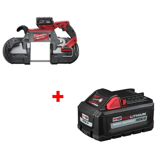 Milwaukee 2729-22 M18 Band Saw 2 BAT KIT w/ FREE 48-11-1865 XC6.0 Battery Pack