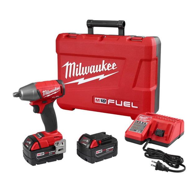 "Milwaukee 2755B-22 M18 FUEL Cordless 1/2"" Impact Wrench w/Friction Ring Tool Kit"