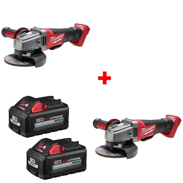 "Milwaukee 2780-20 M18 4-1/2-5"" Grinder, Bare w/ FREE 48-11-1862 Battery 2Pk"