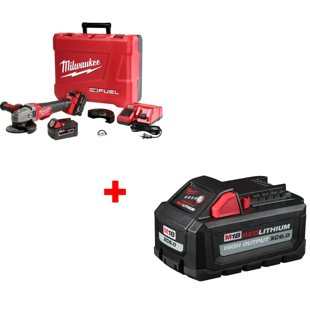 "Milwaukee 2783-22 M18 4-1/2""/5"" Grinder Tool Kit w/ FREE 48-11-1865 Battery Pack"