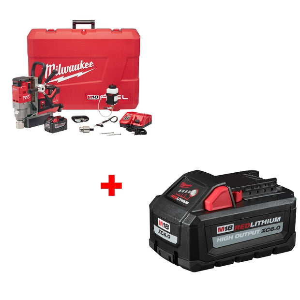 "Milwaukee 2787-22HD M18 1-1/2"" Magnetic Drill Kit w/ FREE 48-11-1865 Battery"