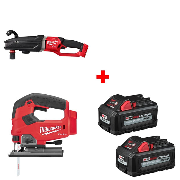 Milwaukee 2811-20 M18 Right Angle Drill w/ Jig Saw, Bare & FREE Battery 2-Pack