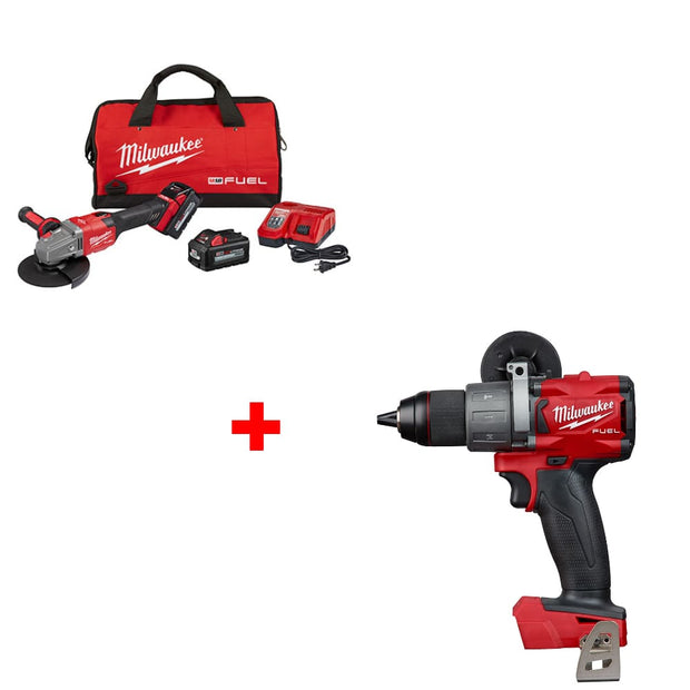 "Milwaukee 2981-22 M18 4-1/2""-6"" GRINDER KIT w/ FREE 2804-20 Hammer Drill, Bare"