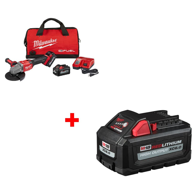 "Milwaukee 2981-22 M18 4-1/2""-6"" GRINDER KIT w/ FREE 48-11-1865 M18 Battery Pack"