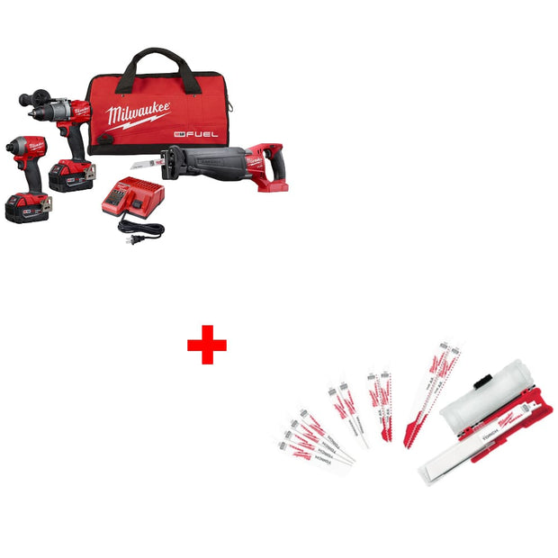 Milwaukee 2997-23 M18 3-Tool Combo Kit w/ 49-22-1129 Ultimate Demolition Kit