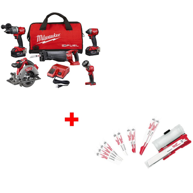 Milwaukee 2997-25 M18 5-Tool Combo Kit w/ 49-22-1129 Ultimate Demolition Kit