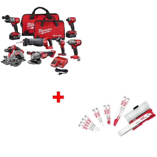 Milwaukee 2997-27 M18 7-Tool Combo Kit w/ 49-22-1129 Ultimate Demolition Kit