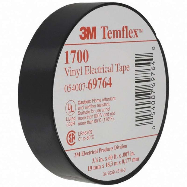 "3M 69764 3/4"" x 60' Electrical tape (Black)"