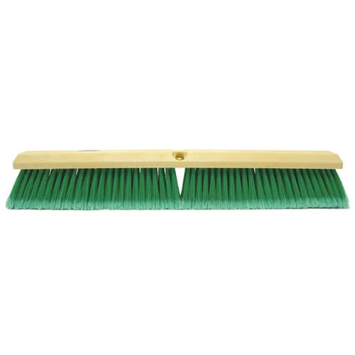 "Weiler 42164 24"" Perma-Sweep Floor Brush, Flagged Green Polystyrene Fill"