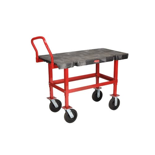 "Rubbermaid FG447300BLA Work-Height Platform Truck (24"" x 48"")"