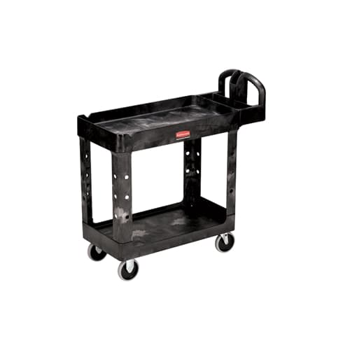 Rubbermaid FG450088BLA HD 2-Shelf Utility Cart w/Lipped Shelf (Small) (4500-88)