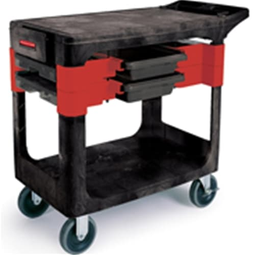 "Rubbermaid FG618000BLA Trades Cart with 5"" (12.7 cm) Casters Includes 2 parts boxes and 4 parts bins"