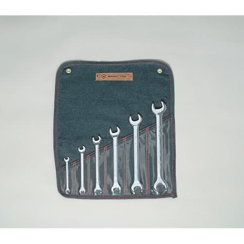 "Wright Tool 736 6 Piece Open End Wrench Set 1/4"" - 15/16"""
