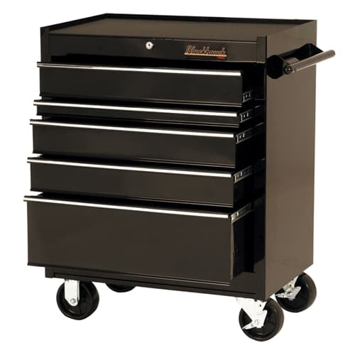 "Blackhawk By Proto 92705R 27"" Rolling Tool Cabinet 5 Drawer - Black"