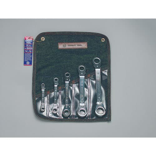 "Wright Tool 9429 5 Piece Ratcheting Box Wrench Set 1/4""-7/8"""