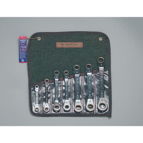 Wright Tool 9446 7 Piece Ratcheting Box Wrench Set, 7mm - 21mm