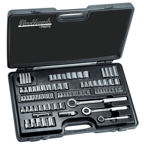 Blackhawk By Proto 9782-B 82 Piece 1/4 3/8 And 1/2 Drive Standard And Metric Set