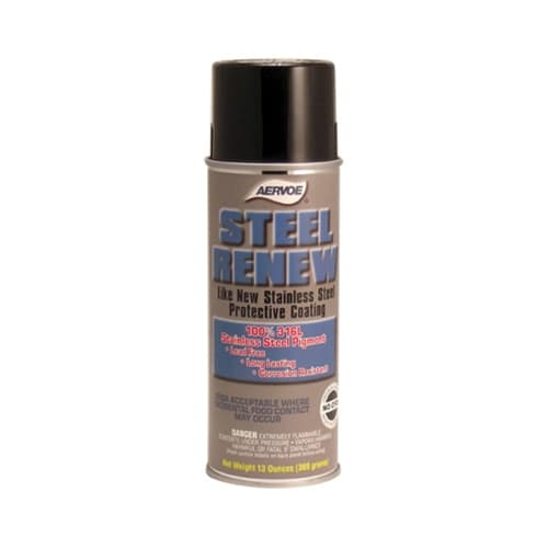 Aervoe 145 Steel Renew 100% 316 L Stainless Steel Pigment Protective Coating, 16 oz
