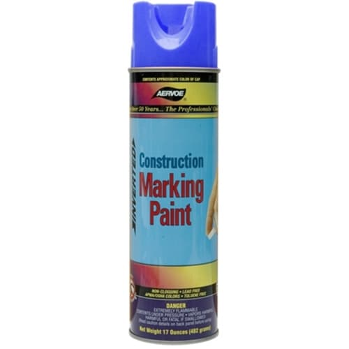 Aervoe 259 Lead Free Non-Clogging Blue Construction Marking Paint Spray, 20 oz